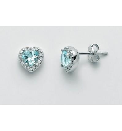 Miluna Orecchini Oro Bianco 9kt con smerlado e Diamanti ERD2110V2X